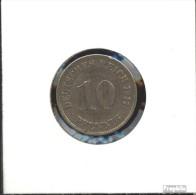 Deutsches Reich Jägernr: 13 1900 F Sehr Schön Kupfer-Nickel 1900 10 Pfennig Großer Reichsadler - [ 2] 1871-1918 : German Empire