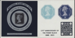 GREAT BRITAIN 1974 Stamp Day Stamps On Stamps Machin IMPERF.OVPT:EUROPHILEX LONDON IMPERF:sheetlet   [non Dentelé] - Grossbritannien