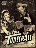 """Das Neue Film-Programm Von Ca. 1954  -  """"Über Den Todespass""""  -  Mit James Stewart , Ruth Roman - Magazines"""