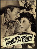 """Das Neue Film-Programm Von Ca. 1954  -  """"Der Garten Des Bösen""""  -  Mit Gary Cooper , Susan Hayward - Magazines"""