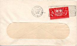 IRLANDE. N°75 De 1939 Sur Enveloppe Ayant Circulé. G. Washington. - George Washington
