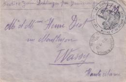 Env De DIEMERINGEN Du 3.10.38 Avec Cachet Du 18e Régiment Du Génie Adressée à Wassy - Marcophilie (Lettres)