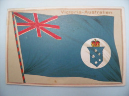 DRAPEAU(relief),FLAG (embossed), FAHNE, BANDERA - Cpa Vers 1910: VICTORIA  -  AUSTRALIE - Australie