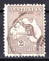 Australia 1918 Kangaroo 2 Shillings Brown 3rd Watermark Used - Listed Variety - 1913-48 Kangaroos