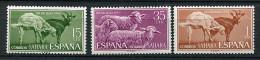 (cl 21 - P38) Sahara Espagnol ** N° 198 à 200 -(ref. Michel Au Dos)  Journée Du Timbre (chèvre, Moutons)  - - Farm