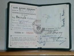 CAI CLUB ALPINO ITALIANO - SEZ. DI SALUZZO  - TESSERA DI RICONOSCIMENTO 1946 - Vecchi Documenti