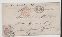 EP012/ Edifil 148, Alegorie 40 C.  P.D. Santander Nach Nantes (Frankreich) - Cartas