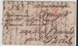 THT042/  THURN  & TAXIS - Vorphila Brief , Frankfurt 1827, Paris - Banlieu TT R 2 - Duitsland