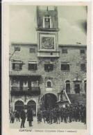 TOSCANA-AREZZO-CORTONA PALAZZO COMUNALE(DOPO I RESTAURI)ANIMATISSIMA - Italia