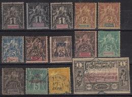 Divers Timbres De Colonies - Avec Charnières Ou Oblitérés. Cote 92,15 € - Alphée Dubois