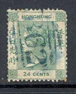 HONG KONG, 1862 24c (no Wmk) Small Tear, Rounded Corner - Malta (...-1964)