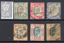 TRANSVAAL, 1902 To 5/- (wmk Single Crown CA), 5/- Has A Small Uppr Right Corner Perf, Cat £53 - Zuid-Afrika (...-1961)