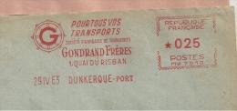 """Dunkerque, """"Gondrand"""", Transport - EMA Havas """"MW""""  De Remplacement - Enveloppe Entière  (P390) - Trucks"""