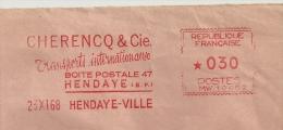 "International, Transport, ""Cherencq"", Hendaye,  - EMA Havas ""MW""  De Remplacement - Devant D'Enveloppe   (P391) - Trucks"