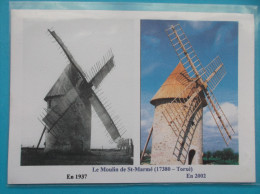 17 :  TORXE : RECONSTRUCTION Du MOULIN De SAINT-MARME   :   C.P.M , Carte En Trés Bon état - Mulini A Vento