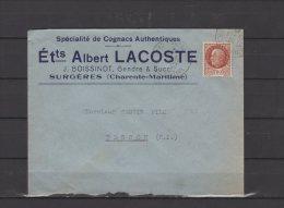 17 - Surgères - ETts Albert Lacoste - Spécialité De Cognacs Authentique S- 1942 - 1921-1960: Période Moderne