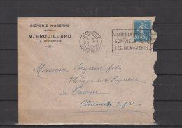 17 - La Rochelle - M. Brouillard - Cidrerie Moderne - 1925 - Postmark Collection (Covers)