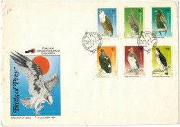 Zimbabwe - 1984 - Birds Of Prey, Hawk, Eagle, Bird - FDC - Zimbabwe (1980-...)