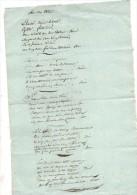 Chanson.Contes Antinapoléoniens.air Des ....1 Page In-folio.1808. - Manuscrits