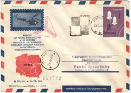 POLONIA - POLSKA - 1964 - XX Lecie Ludowego Lotnictwa Polskiego - Poznan-Warka 1944-1964 - Wostok 3-4 - Elicotteri