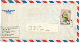 Kiribati - 1983 - Bird - Bristle Thighed Curlew - Viaggiata Da Tarawa Per Waverly, USA - Kiribati (1979-...)