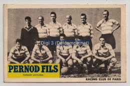 Pub Pernod Fils, Football, Racing Club De Paris, Bon De Commande, Neuve - Calcio