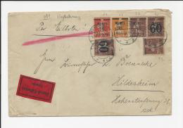 LETTRE DE HEYDEKRUG MEMEL PAR EXPRESS AFFRANCHIE TOUT EN SEMEUSE COVER - Memel (1920-1924)