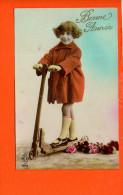 Jeux Et Jouets - Enfant - Trotinette -bonne Année (Authenay 1925) - Jeux Et Jouets