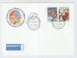 Finland ARCTIC CIRCLE SANTA CLAUS COVER 2000 - Stamps