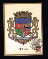 ALGERIE  CP Double 15 Oct 1960  Oran  VI° Foire Sur Le N° 1230A ( France ) - Algérie (1924-1962)