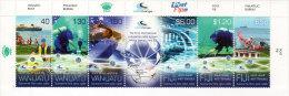 van1401 Vanuatu Fiji 2014 Joint Issue Under Water Cable 4v