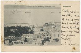 Gibraltar Orientfahrt Der Hamburg Amerika German Line Ship Line Defauts Damaged - Gibraltar