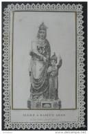 CANIVET DENTELLE Fin XIXème ALLEZ A SAINTE ANNE ELLE VOUS PROTEGERA / SANTINO / HOLY CARD ANDACHTSBILD - Devotion Images
