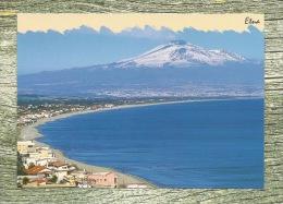 Mt. Etna - Winter View From Catania Seashore , Volcano, Volcan, Vulcano, Vulkan, Monte, Mount - Catania