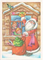 New Year Greeting Card By L. Voronkova - Santa Claus - Ded Moroz - Tit - Children - Gifts - 1985 - Russia USSR - Unused - Anno Nuovo
