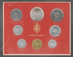 1963 /I Vatican City 8-Coin Mint Set Unc Pope Paul VI CITTA DEL VATICANO - Vaticano