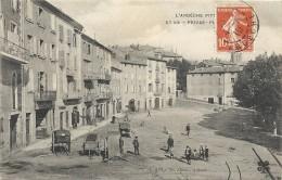 Ardèche : Privas, La Place, Animée - Privas