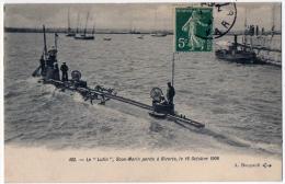 Bateau Sous Marin Le Lutin Perdu Bizerte Le 16 Octobre 1906 état Superbe - Equipment