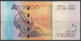 CABO VERDE CAPE VERDE BANKNOTE 200O ESC 2014 NICE USED Cesaria Evora - Cap Vert