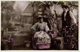 LOT DE 4 CARTES - FANTAISIES - COUPLE - (Scannée En Recto & Verso). - Cartes Postales