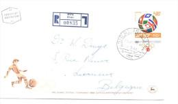 ISRAËL 354 / FDC Port Recommandé 00835  -  Elat 11.3.68 - Football