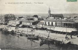 Palavas-les-Flots - Vue Générale - Barques De Pêche Le Long Du Canal - Edition Claparède - Palavas Les Flots