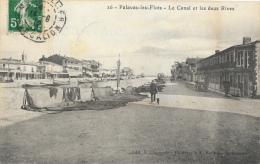 Palavas-les-Flots - Le Canal Et Les Deux Rives - Filets De Pêche Au Séchage - Edition Claparède - Palavas Les Flots