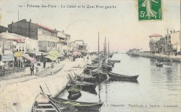 Palavas-les-Flots - Le Canal Et Le Quai Rive Gauche - Barques De Pêche - Phototypie A. Bardou - Edition Claparède - Palavas Les Flots