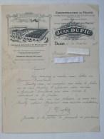 DIJON (21): Lettre à En-tête 1918 Constructions De Fours DUPIC - Ustensiles Boulangerie Pétrin - Route De Langres - France