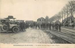 Poperinge - Rousbrugge-Haringhe - Guerre 14/18 - La Station des Trains sur la route de Ypres