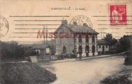 78 - GARGENVILLE - La Gare - écrite 1923   - 2 Scans - Gargenville