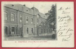 Péruwelz - L'Ecole Moyenne Pour Filles - 1905 ( Voir Verso ) - Péruwelz