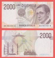 Italia 2.000 Lire  Marconi  Serie    AA ..A - 2000 Lire