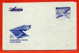 TCHECOSLOVAQUIE 1.20KCS AEROGRAMME NEUF OISEAU - Postal Stationery